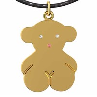 maya diamond pendant bear