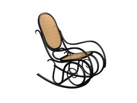 3d thonet rocking chair model