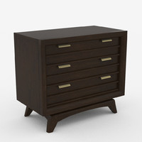 Mid-Century Modern (3) Drawer Nightstand