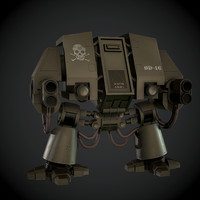 3ds max heavy war machine