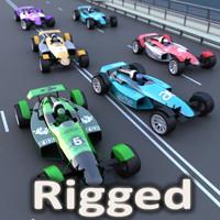 track racing car 3d model