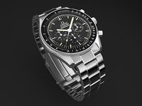 3d model watch mens omega