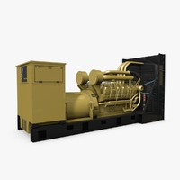 3d model of generator industrial