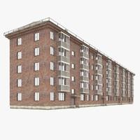 3d model middle rise building 2