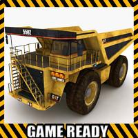 industrial mining truck 3d model