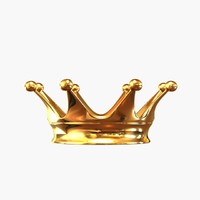 golden crown 3d model
