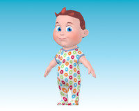 cartoon baby boy 3d model