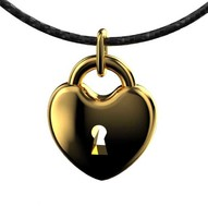 obj pendant heart rounded