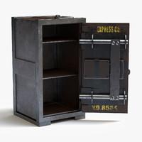 3d vintage safe