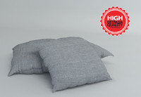3ds max pillow modeled fabric