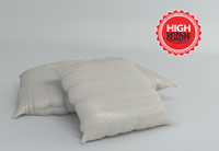 pillow modeled fabric 3ds