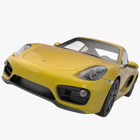 3d model porsche cayman 2013 sport car