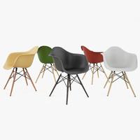 vitra eames armchair daw 3d model