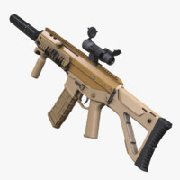 adaptive rifle acr 3d max