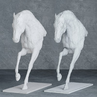 3d sculpture statue horse