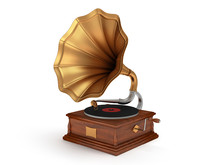old vintage gramophone 3d model