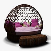 sofa hammock 3d max