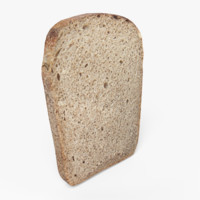 realistic bread slice 3ds