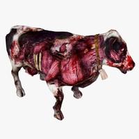 3d zombie cow animal model