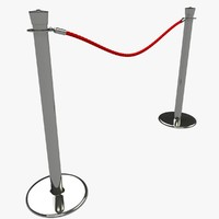 3ds velvet rope stanchion