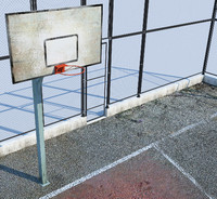 3d basketball court basket model