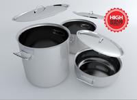 3d model pot marmitte