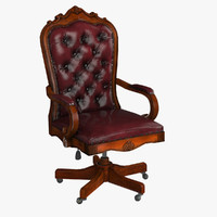 3ds max leather chair