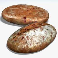 apple beetroot loaf 3d model