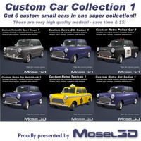 Custom Retro Cars Collection 1