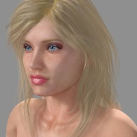 realistical female human anastasia 3d model