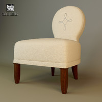 3ds max barbara barry chair bb021-03