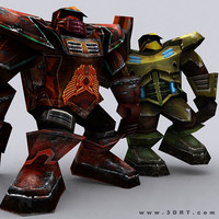 warbots brutes characters 0 3d model