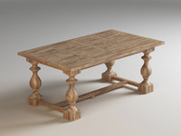 balustrade tables monasteries 3d model
