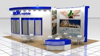 ADK Marble wooden expo fair stand design