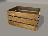 3d model fruit crate