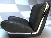 3d model cadillac car seat