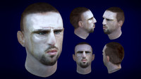 french football player ribery 3d model