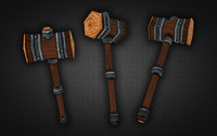 3d model medieval wooden warhammer war