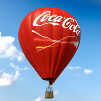 air baloon coca cola 3d model