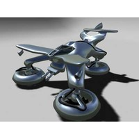 3d hydrofoil drone attack ship model