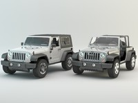 two jeep wrangler 2008
