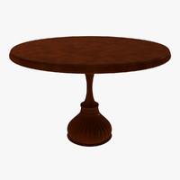 3d cherry wood dining table
