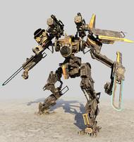 robot mech droid 3d model