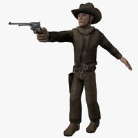 cowboy video games 3d blend