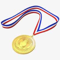 3d medal ribbon model