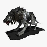 mutated monster dog animation max