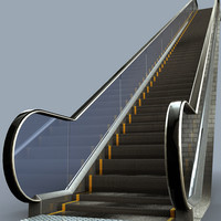3d model escalator malls elevator
