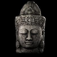 maya stone buddha head