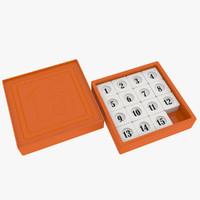 3d 15-puzzle puzzle