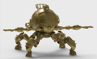 3d model of leg machine robot